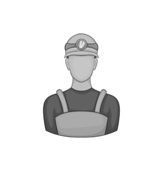 Coal miner icon black monochrome style vector image