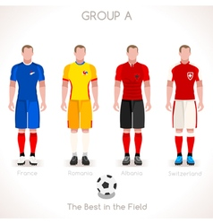 EURO 2016 GROUP A Championship vector image vector image