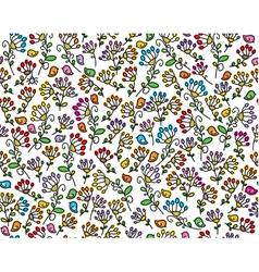 flora birds pattern vector image vector image