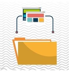 Folder file web page vector