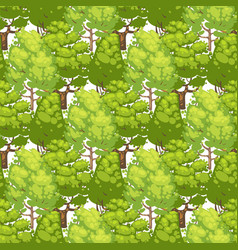 forest seamless pattern design - green eco texture vector image