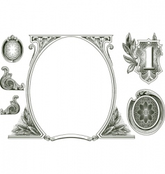 Money ornaments vector