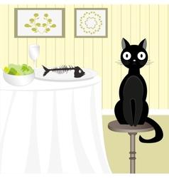 Naughty cat 3 vector image