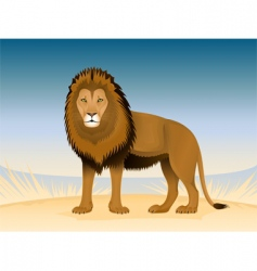 thoughtful lion vector image