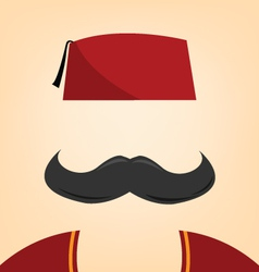 A man with a fez vector image vector image