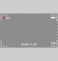 Black transparent camera rec interface vector