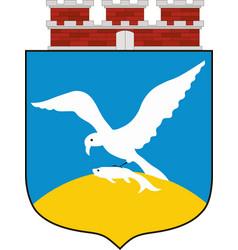 coat of arms of sopot in pomeranian voivodeship vector image