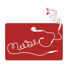 Earbud music vector