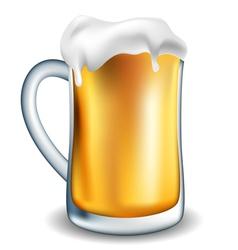 Jar of beer vector image vector image