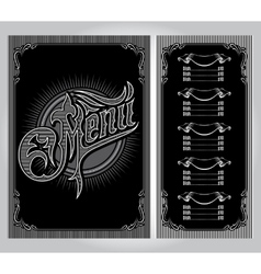 Template for the cover of the menu vector