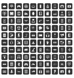 100 adjustment icons set black vector