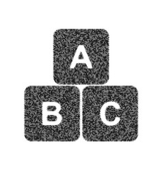 abc cube sign black icon vector image