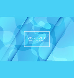 Abstract blue tone geometric curve shape white vector