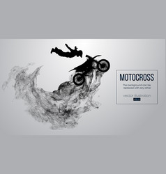 abstract silhouette of a motocross rider vector image
