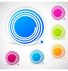 Abstract speech banner with a spiral frame vector image