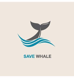 abstract whale icon vector image