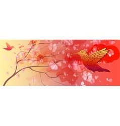 Beautiful floral horizontal background vector