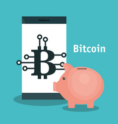 Bitcoins trading flat icons vector
