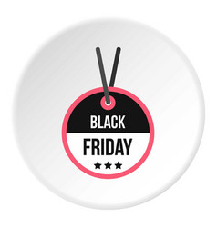 black friday sale tag icon circle vector image