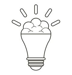 brain bulb idea innovation creative outline vector image