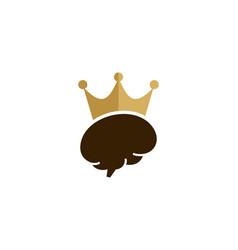 brain king logo icon design vector image