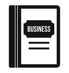Business book icon simple style vector