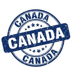 Canada blue grunge round vintage rubber stamp vector