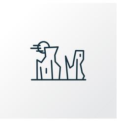 Canyon icon line symbol premium quality isolated vector