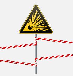 Caution - danger warning sign safety explosive vector