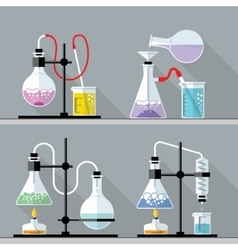 Chemical Research Laboratory Flat design vector
