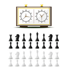 chess board and chessmen leisure concept vector image