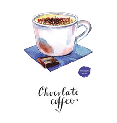chocolate coffee vector image