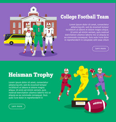 colleage football team heisman memorial trophy vector image
