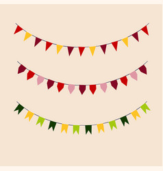 Colorful garlands on white vector