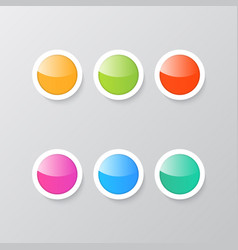 colorful shiny buttons on a gray background vector image