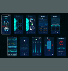 control car app mobile interface screens vector image
