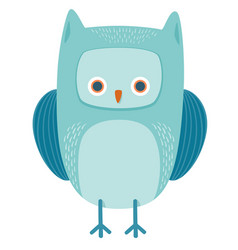 cute owl bird animal character vector image