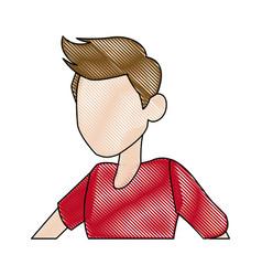 default head man portrait hair image vector image