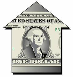 dollar house vector image