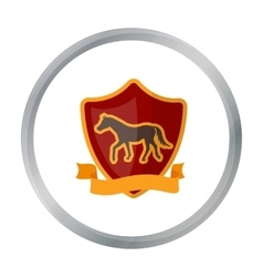 Equestrian blaze icon in cartoon style isolated on vector