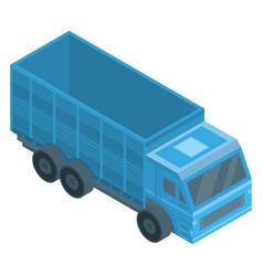 Farm truck icon isometric style vector