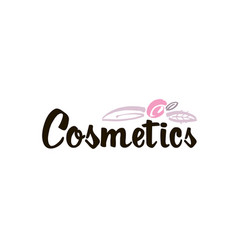 Fashion lettering logo with stylized flowers and vector