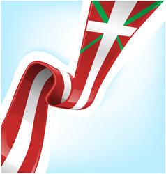 flag basque country is a autonomous community vector image