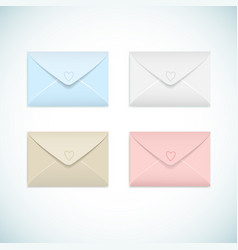 Flat envelopes set vector