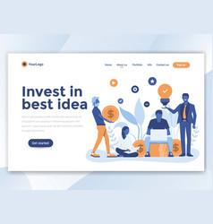 Flat modern design wesite template - invest in vector