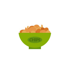 flat potato chips icon vector image