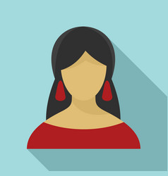 Fortune teller icon flat style vector