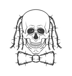 funny skull or symbol vector image