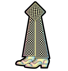 funny surreal bookmark in a shape legs vector image