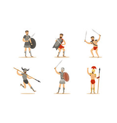 gladiator the armed combatant of roman empire vector image